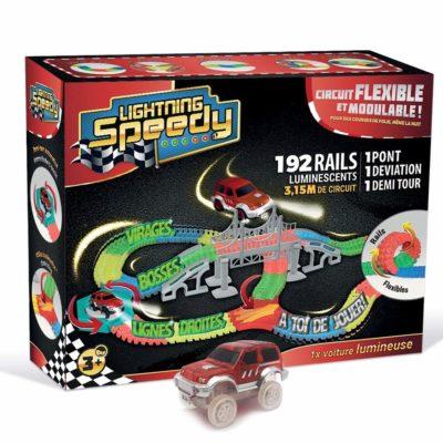 Circuit de Voiture Flexible et Modulable Lightning Speedy - Monsieur Jouet