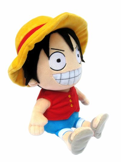 One Piece - Peluche Luffy assis