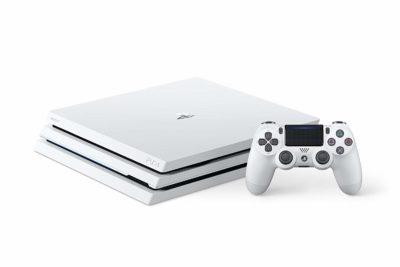 PS4 Pro 1 To - Blanc Glacier manette