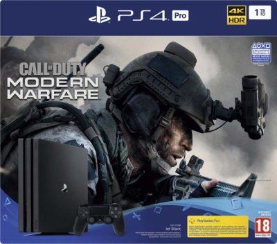 Pack Playstation PS4 Pro 1 To Noir + Jeu Call of Duty Modern Warfare
