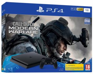 PS4 Slim 1 To Noir + Call of Duty Modern Warfare