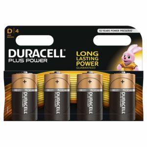 Duracell Plus - Piles Alcalines (D x 4)