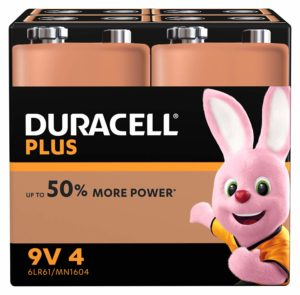 Duracell Plus Power – Piles Alcalines (9V x 4)