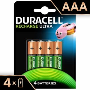 Duracell Recharge Ultra – Piles Rechargeables (AAA x 4)