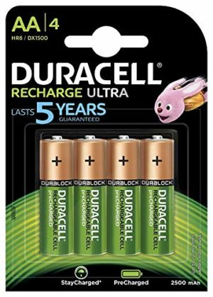 Duracell Recharge Ultra - Piles Rechargeables (AA x 4)