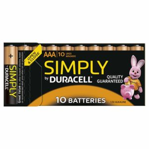 Duracell Simply - Piles Alcaline (AAA x 10)