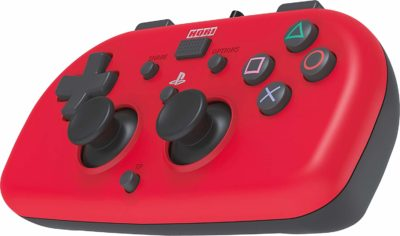 Hori – Wired Mini Gamepad PS4 (Rouge) incliné