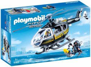 Playmobil City Action - Hélicoptère et policiers d'élite