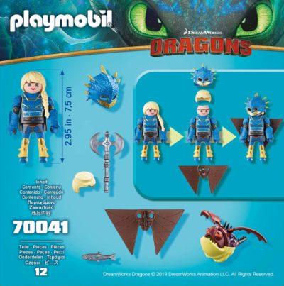 Playmobil Dragons - Astrid avec Globegobeur accessoires