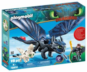Playmobil Dragons - Krokmou et Harold avec bébé dragon