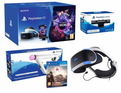 Sony PlayStation VR + Farpoint + Aim-Controller PS4 + VR Worlds + PS4 Camera V2 - VR Pack