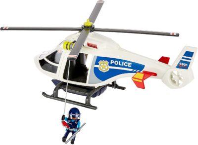 Hélicoptère de Police avec Projecteur de Recherche