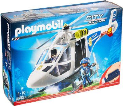 Hélicoptère de Police Playmobil avec Projecteur de Recherche