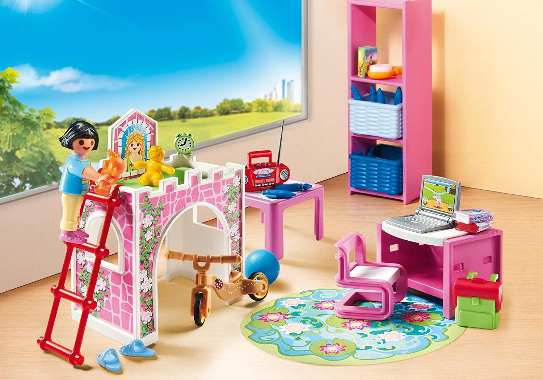 playmobil chambre d'enfant city life n°9270  chambre de