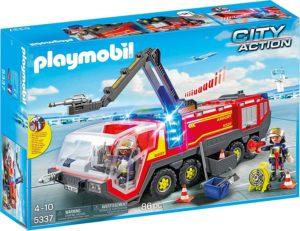 Playmobil city action Pompiers avec véhicule aéroportuaire