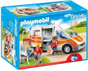 Playmobil City Life Ambulance avec gyrophare et sirène