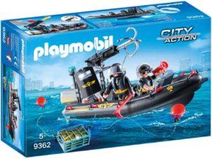 Playmobil City action Bateau Pneumatique et Policiers d'Élite