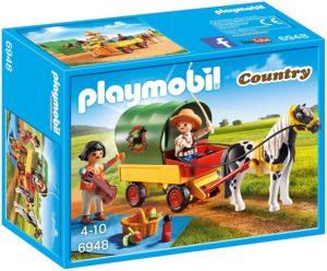 Playmobil Enfants avec Chariot et Poney