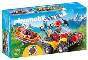 Playmobil- Secouriste des Montagnes avec Quad