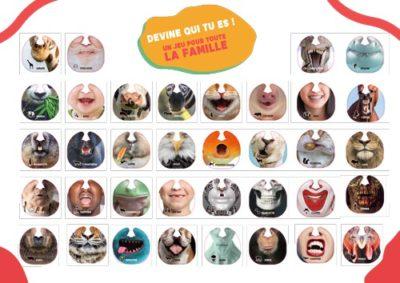 les 36 masques de Quiz My Face