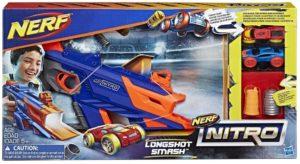 Jeu de tir Nerf Nitro Longshot Smash – Jeu de Cascade Petites Voitures