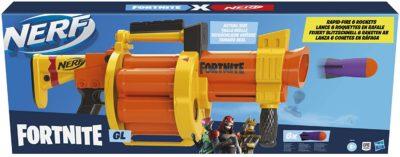 Blaster Lance Roquette Nerf Fortnite GL et Flechettes Nerf Fortnite Officielles Hasbro