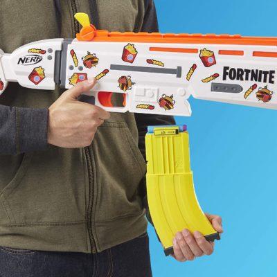 Blaster Nerf Fortnite motorisé AR-DURR Burger, chargeur et fléchettes Nerf officielles