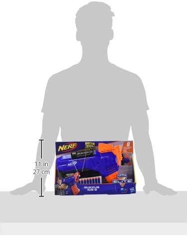 Blaster Nerf Elite RukKus ICS-8 et Flechettes Nerf Elite Officielles Hasbro