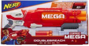 Blaster Nerf Mega Double Breach et Flechettes Nerf Mega Officielles