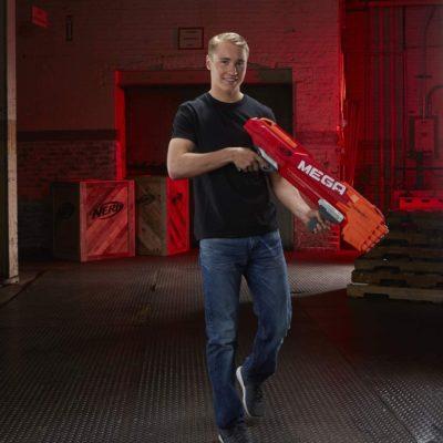 Blaster Nerf Mega Twinshock, B9894EU40, Hasbro