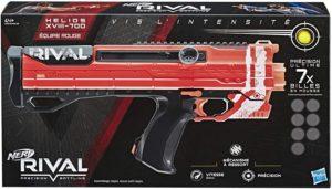 Blaster Nerf Rival Helios Rouge XVIII-700 Hasbro et ses Billes Nerf Rival Officielles