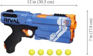 Blaster Nerf Rival Kronos Bleu XVIII-500 et Billes en Mousse Nerf Rival Officielles