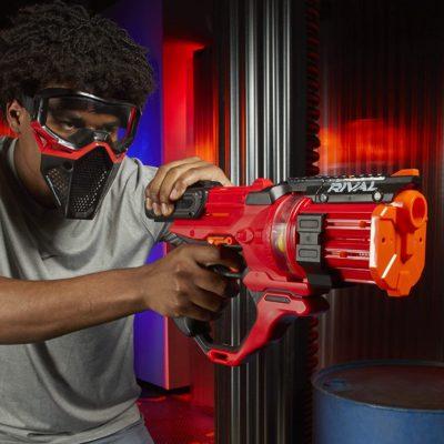 Blaster Nerf Rival Roundhouse XX-1500 rouge avec Billes en Mousse Nerf Rival Officielles