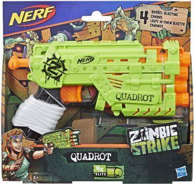 Blaster Nerf Zombie Quadrot Hasbro E2673EU4
