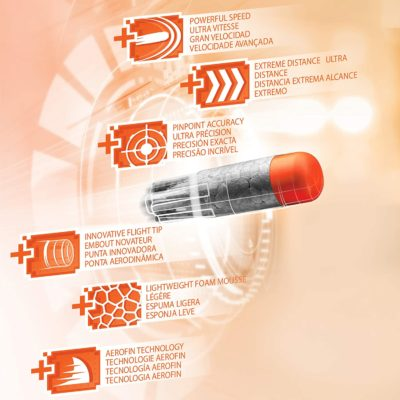 Fléchettes Nerf Pack de 75 Fléchettes Nerf Ultra Officielles