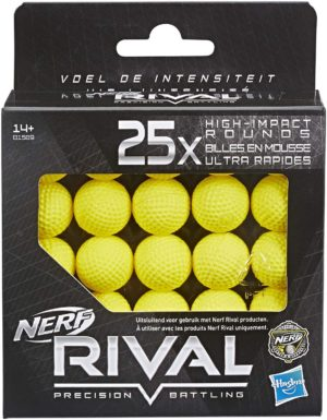 Recharge Pack de 25 Billes en Mousse Nerf Rival Officielles